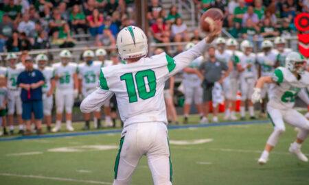 Badin High quarterback Zach Switzer (10) lets a pass loose against Edgewood last season. AJ FULLAM/6SPhoto.com